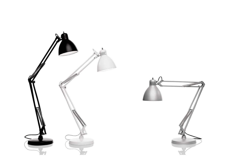 Jj leucos lampada da studio con braccio regolabile