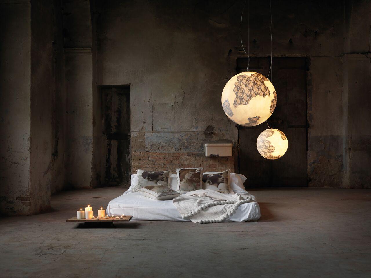 Lampade Per Porticati Esterni lampada ululì ululà - in vetroresina e pizzo per interni ed esterni
